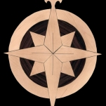 Compass Rose. 2012. Ebony and Maple.