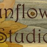"Sunflower Studio. 2012. 91 pieces, 6"" x 19"" Blue Pine, Purpleheart, Cypress, Yellowheart, Canarywood, Orangewood, Chakta Viga, Chechen, Bloodwood, Bubinga, Leopardwood, Jatoba, Kingwood, Cedar, Merbau, Redheart, Mahogany, Padouk, Tulipwood, Oak, Shedua, Birch, Mayan Walnut, Beech, Cocobolo, Cherry, and Amboyna."