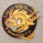 2017 Laughing Sun Logo, gift for 5th anniversary. Aspen, Wenge, Yellowheart, Redheart, Osage Orange.